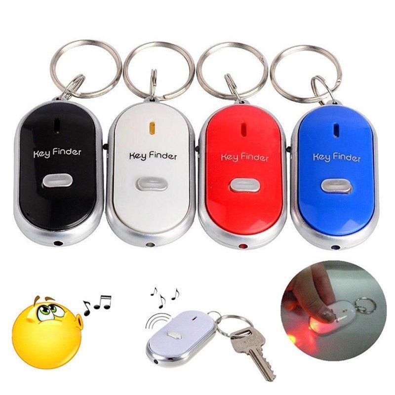 led key finder locator finden verloren schl ssel blinkt alarmierende key chain pfeife piepton