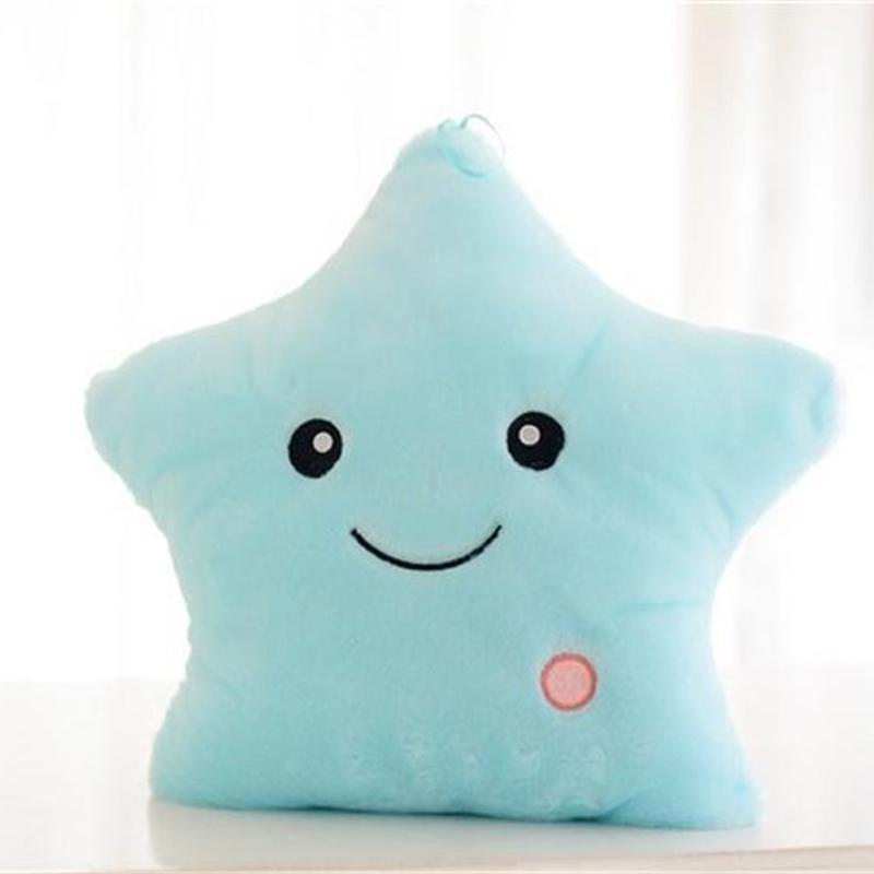 Luminous Pillow Star Cushion Colorful Glowing Led Light Gift For Girl Toys O9Q5