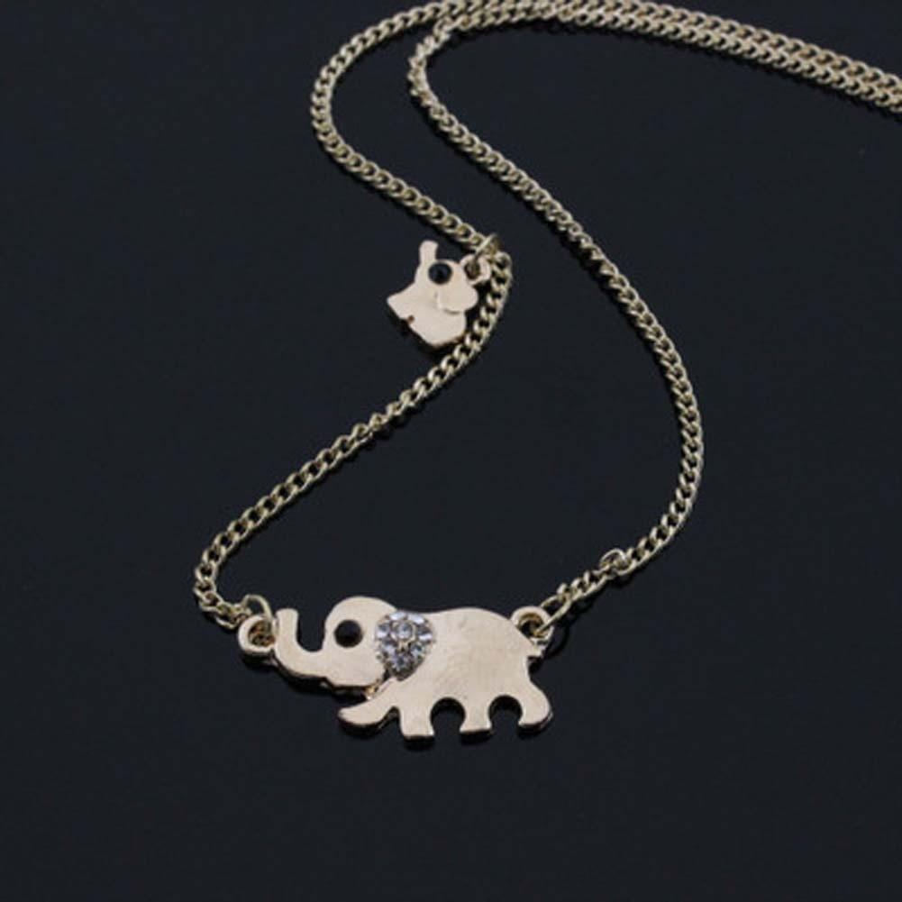 New Lovely Elephant Family Stroll Pandent Fashion Charming Crystal ... fd4ec04931cd