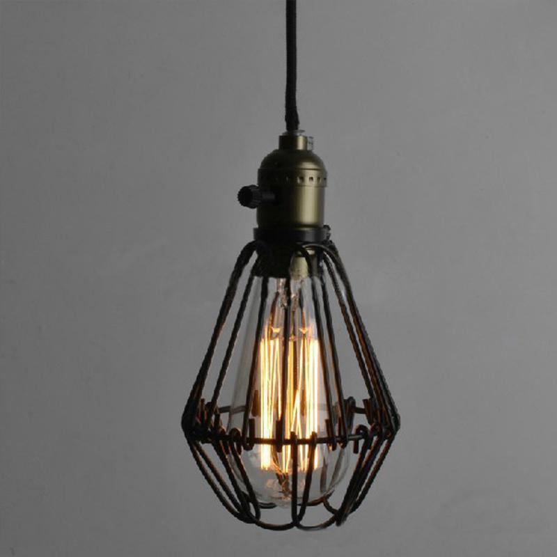 Vintage Draht Lampe Käfig DIY Lampenschirm Lampe Guard Käfig ...