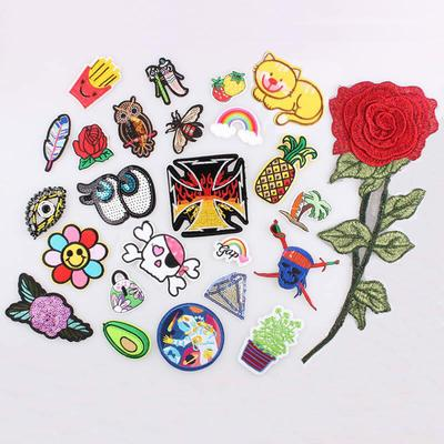 2Pc Rainbow Peace Patch Letter Flower Heart Star Boho Sew iron on Applique DIY