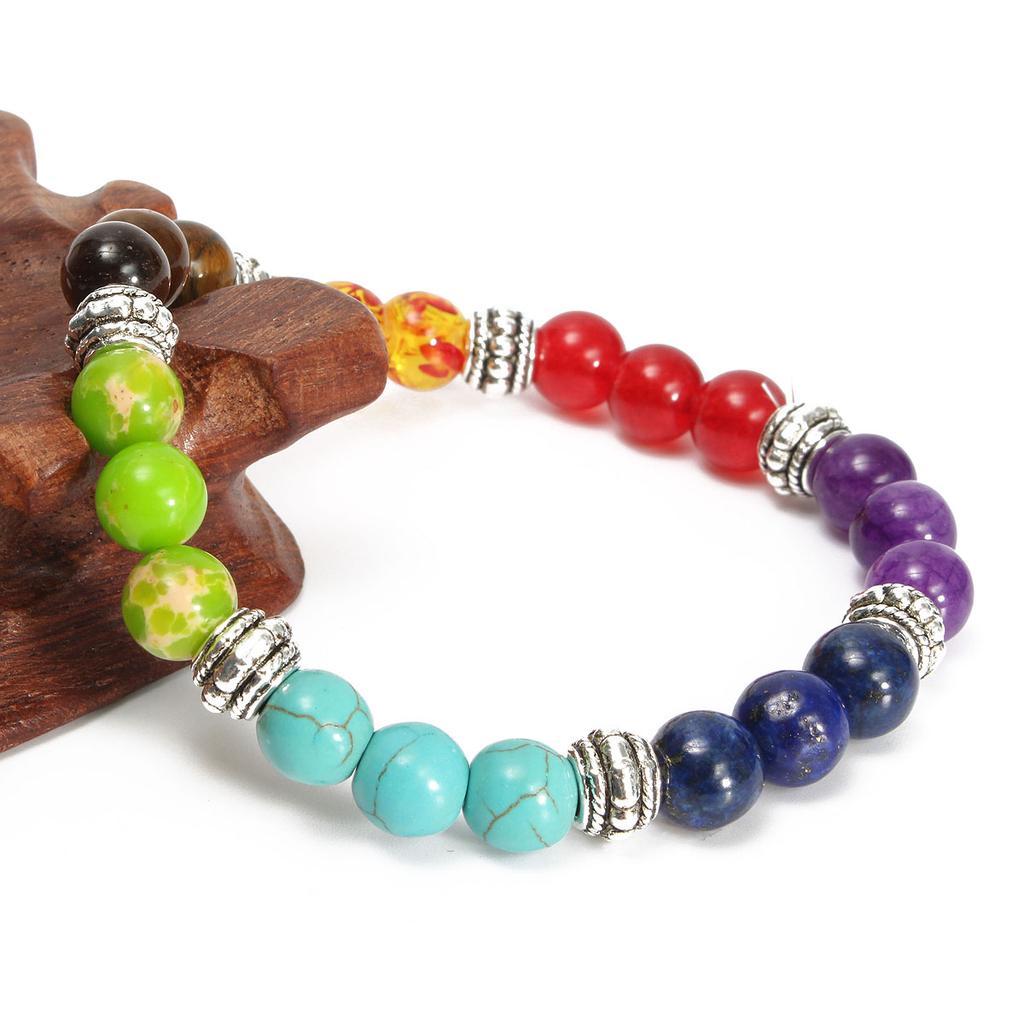8 mm Rudraksha Bracelet prier poignet chakas Yoga Extensible Poignet Extensible Sutra Bead