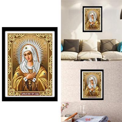 8df372f0421 5D diamante bricolaje pintura religiosa María patrón pasta Cross Kit de  punto de bordado hecho a