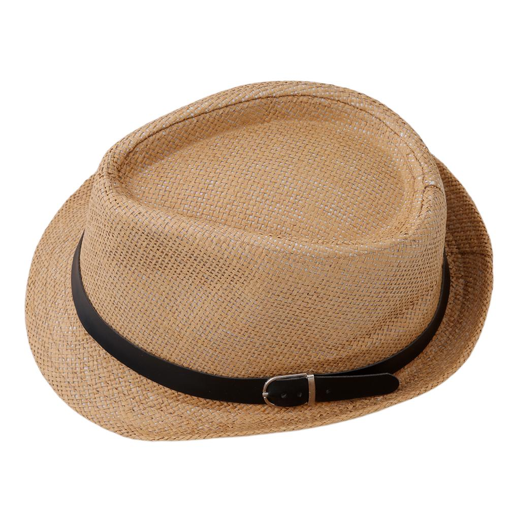 447d321c Unisex Beach Formal Hat Trilby Gangster Straw Jazz Cap Bowler Trendy Summer  Sunhat-buy at a low prices on Joom e-commerce platform