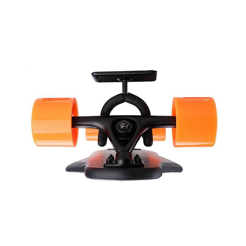 Skateboard Wall-Mount Longboard Display Holder Buckle Metal Hangers Rack Black
