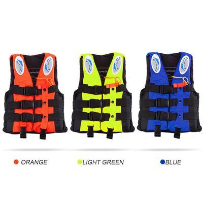 Polyester Adult Life Jacket Universal Swimming Boating Ski Vest+Whistle P xk