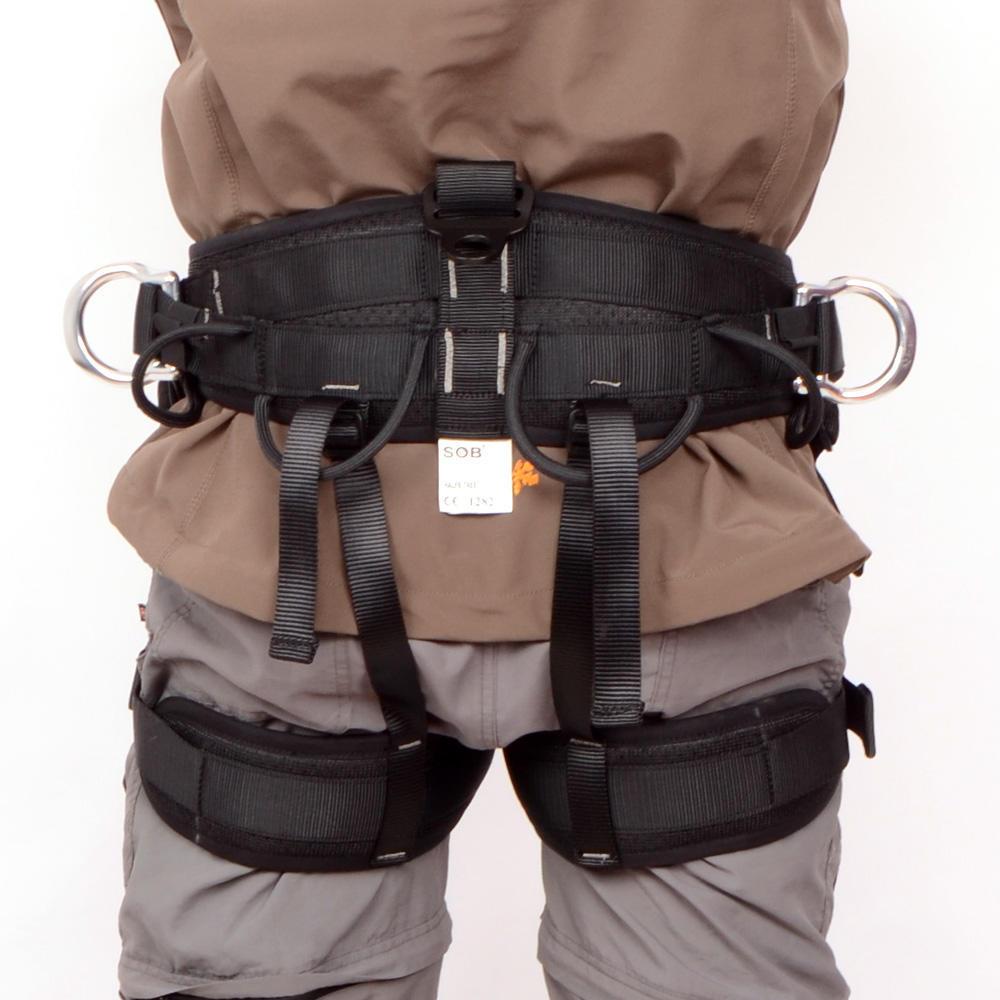 Outdoor Rock Climbing Tree Aborist Seat Safety Seat Sit Harness Belt Rappel Gear