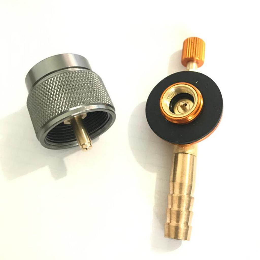 """42/"""" Outdoor Gas Adapter Camping Stove Hose Converter Flat Tank Refilling"""