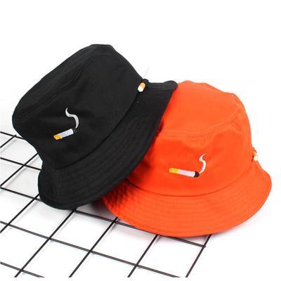 preliked Funny Japanese Print Folding Fisherman Hat Summer Outdoor Men Women Bucket Cap