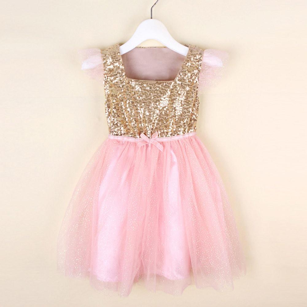 Dulce lindo bebé niños flor vestido del dril de algodón chaleco tul ...