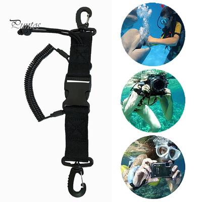 1pc Lanyard Spring Coil Camera Scuba Diving Dive With Clips Release Creative