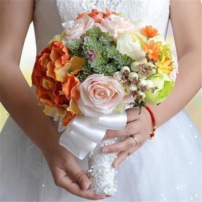 Trandafiri Crystal Pearl Bridesmaid Mireasa Buchet Mireasa Mătase
