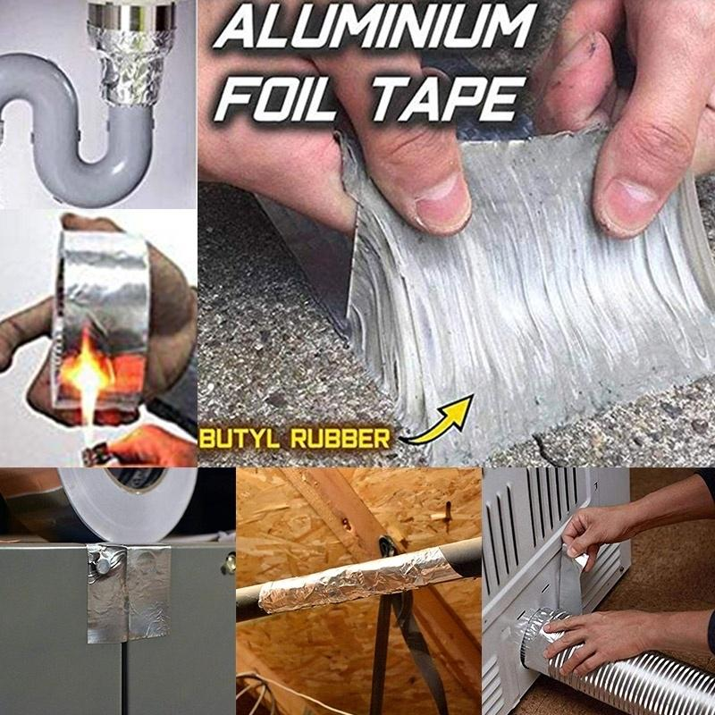 Aluminum Foil Butyl Rubber Tape Super Sticky Self Adhesive Waterproof for  Roof Pipe Marine Repair - buy from 4$ on Joom e-commerce platform