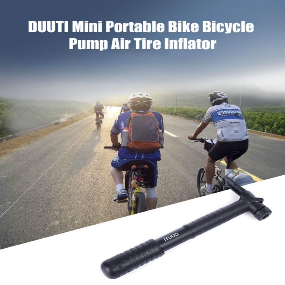 Mini Portable Bicycle Pump Bike Air Compressor Tire Inflator with Bracket