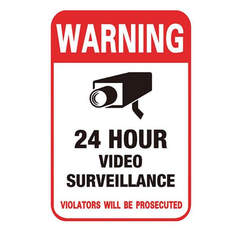 FAKE NIGHTVISION SECURITY DOME CAMERA+WARNING SIGN+STICKERS