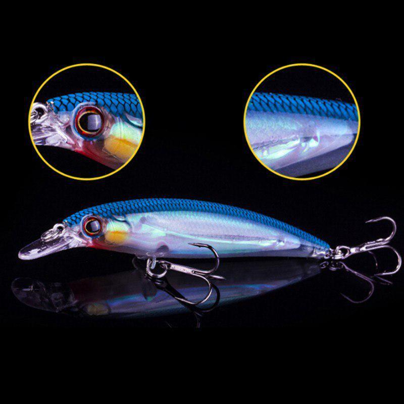 7.6cm Sharp Hooks Crankbait Tackle 3D Artificial Hard Fishing Lure Bait Surprise