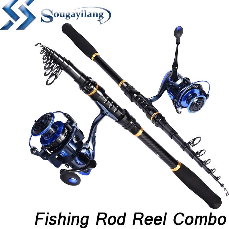 Fishing Reel Rod Combo Set Fishing Pole Spinning Reel Set with Fishing