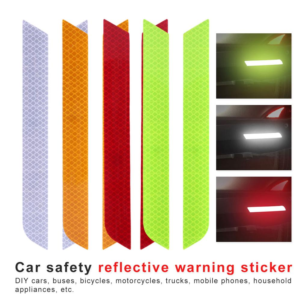 High Intensity Grade Reflective Safety Rim Tapes Wheel Rim Light Reflective Stickers DIY Reflective Warning Stripe Decal for All Vehicles Red