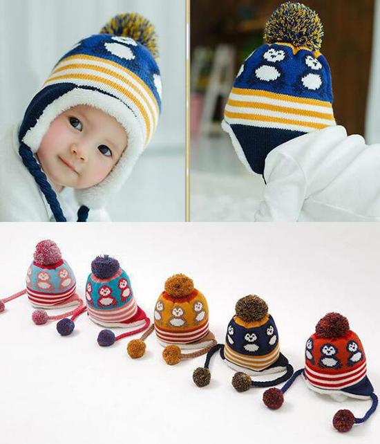 Gorro niño de ganchillo bebé sombrero oso patrón tapa caliente lindo ...