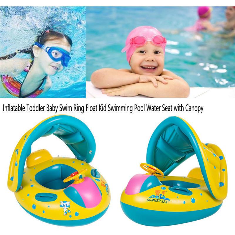 Inflatable Toddler Baby Swim Ring Float Kid Swimming Pool Water Seat ...