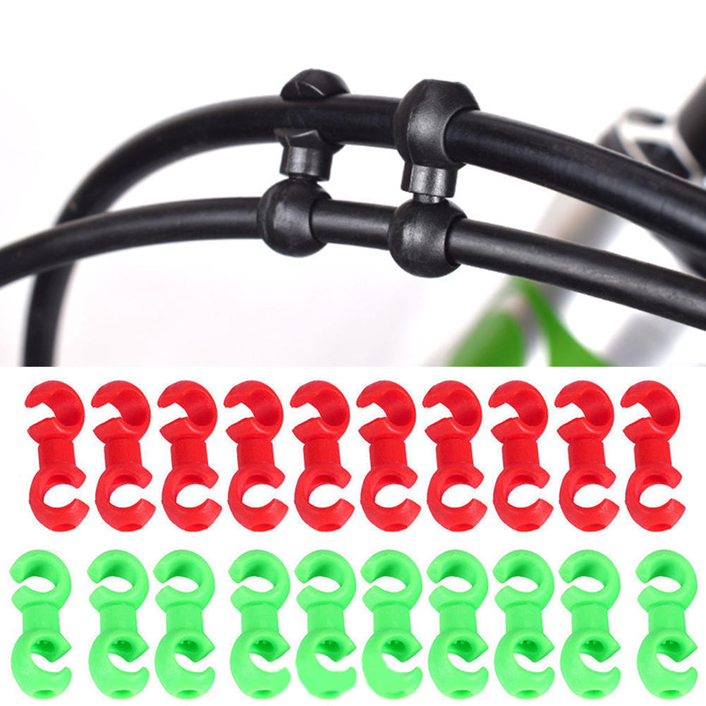 10Pcs Reusable Bicycle Brake Line Pipe S\style Clip Buckle Cable Housing Clip\