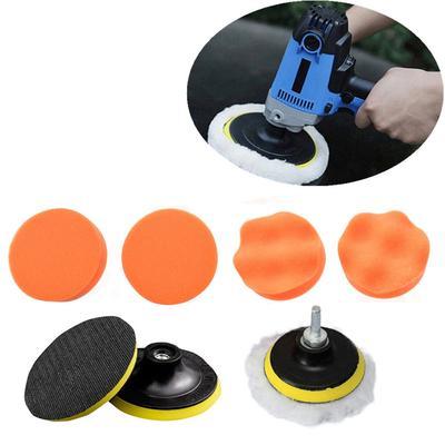 "10pcs 3/""//75mm Woolen Polishing Buffer Pad Heavy Cut Pads Kit For Car Polisher"