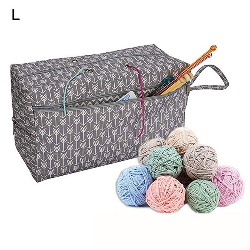 Knitting Tote Bag//Yarn Storage Bag//Oxford Crochet Knitting Tool Yarn Organizer