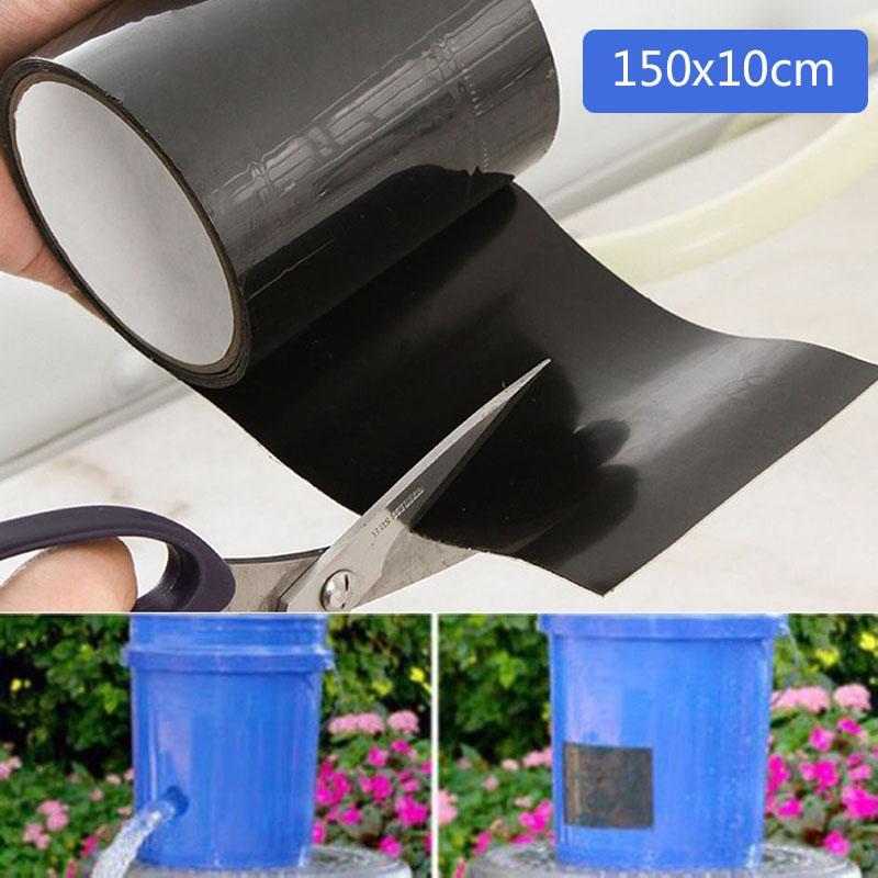 Schwarz 1520mm Super Starke Stop Lecks Dichtung Wasserdichte Faser Reparatur