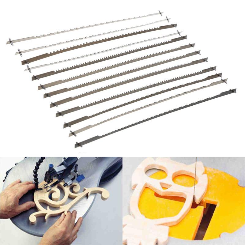 12PCS Woodworking Cutting Tool Pinned Scroll Saw Blades For 16 Inch Scroll Saw
