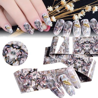 Pdpo 4 100cm Marble Abalone Shell Nail Art Transfer Foil Sticker Decals Tips Decor Buy At A Low Prices On Joom E Commerce Platform
