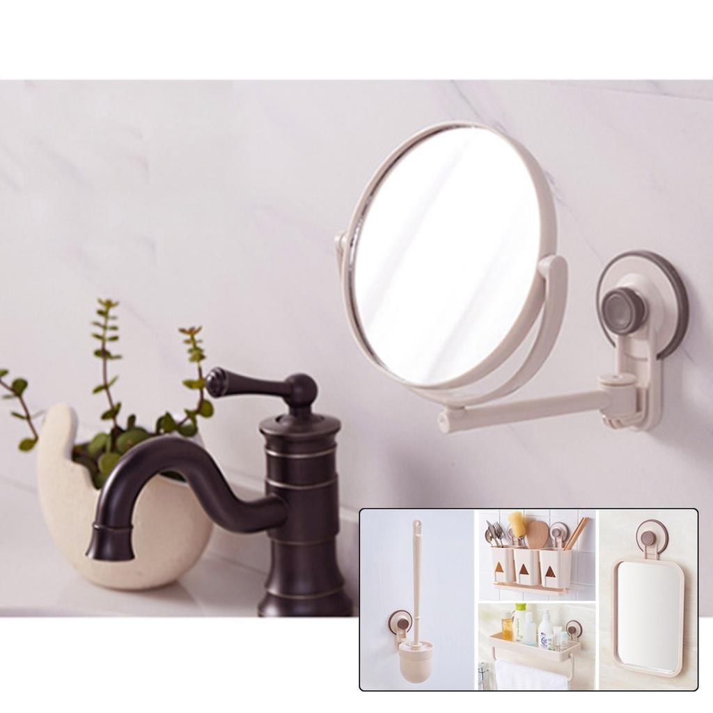 Buy 360 Suction Cup Modern Drill Free Bathroom Mirror Makeup Vanity Shave Mirrors Wall Suction Folding Arm Round Bath Accessories At Affordable Prices Free Shipping Real Reviews With Photos Joom