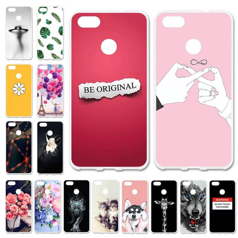 Akabeila Phone Cases for Huawei Nova Lite 2017 Y6 Pro 2017 P9 Lite Mini Cover Silicone Case Cute Bag