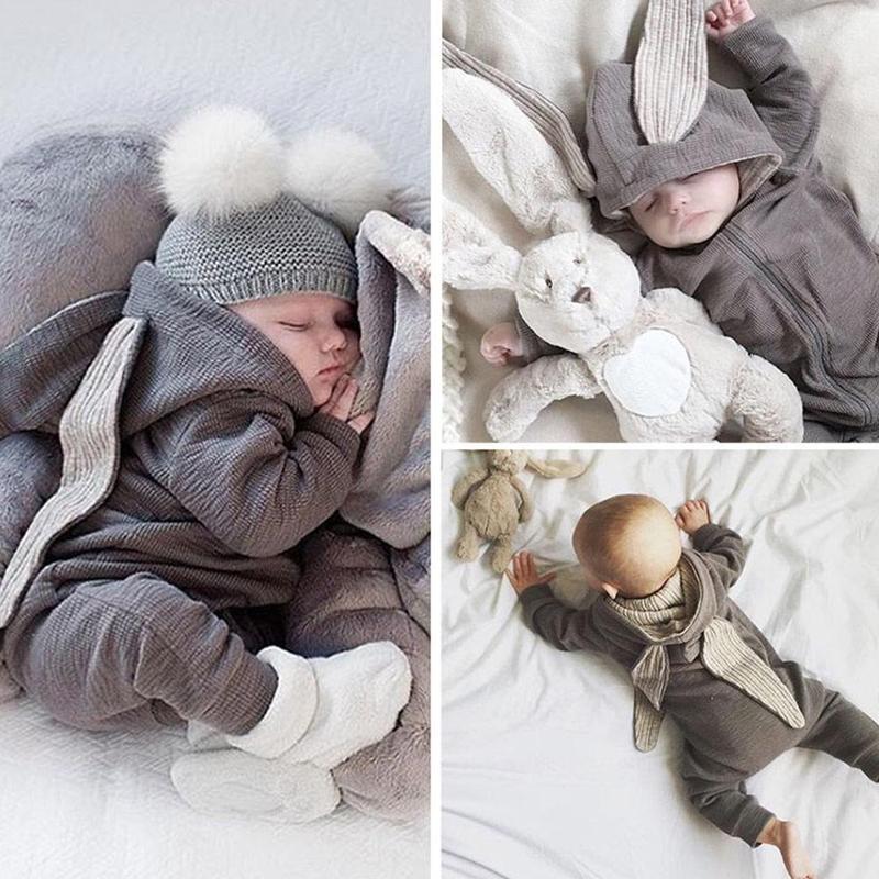 1a2861e7975 Infant Baby Girl Boy Clothes Cute 3D Bunny Ear Romper Jumpsuit ...