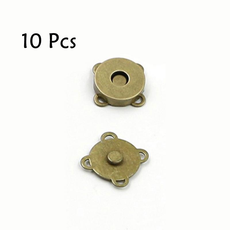 10 Pcs DIY Invisible Metal Magnetic Buttons Clothing Accessories Round Snaps New