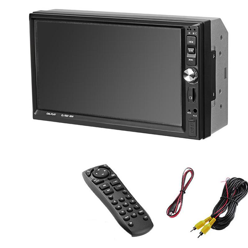 7022B 7 Inch 1024*600 Car Stereo MP5 Player Bluetooth FM Radio Head Unit Remote