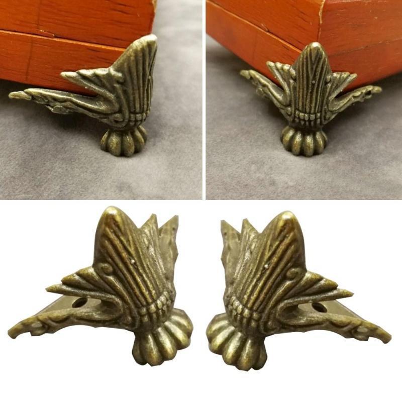 10 Stück Antike Bronze Schmetterling Dekorative Holzbox Ecke Antik Möbel