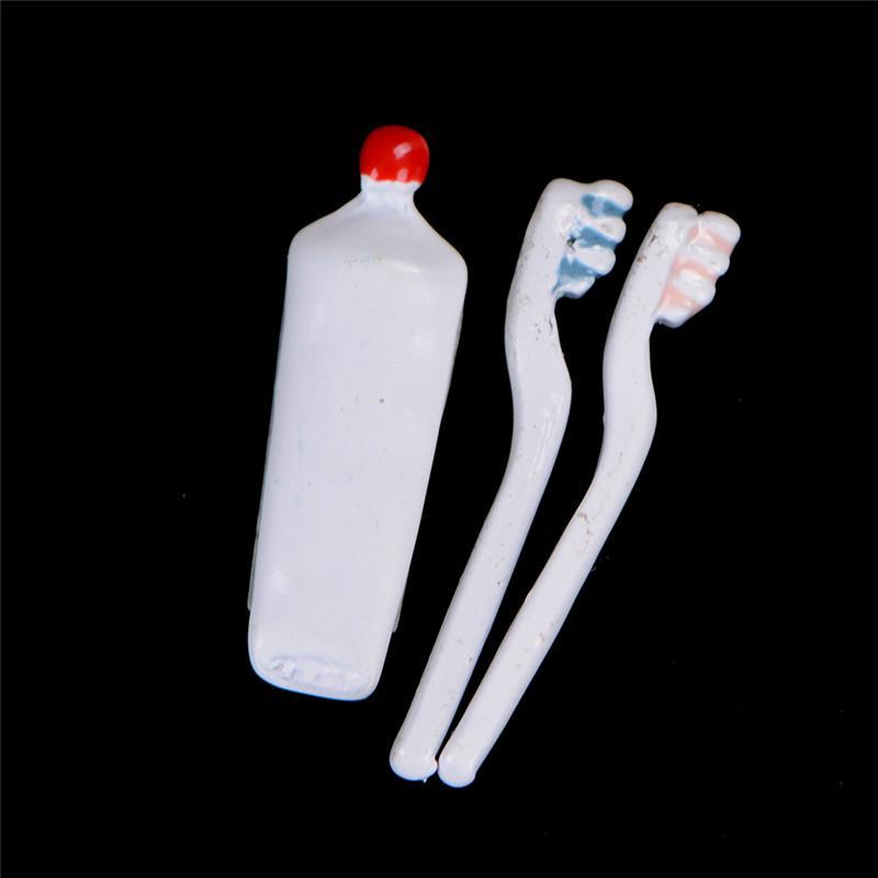Puppenstuben & -häuser Puppenhaus Miniatur 1:12 Badezimmer Zubehör Set Zahnbürste Zahnpasta Und