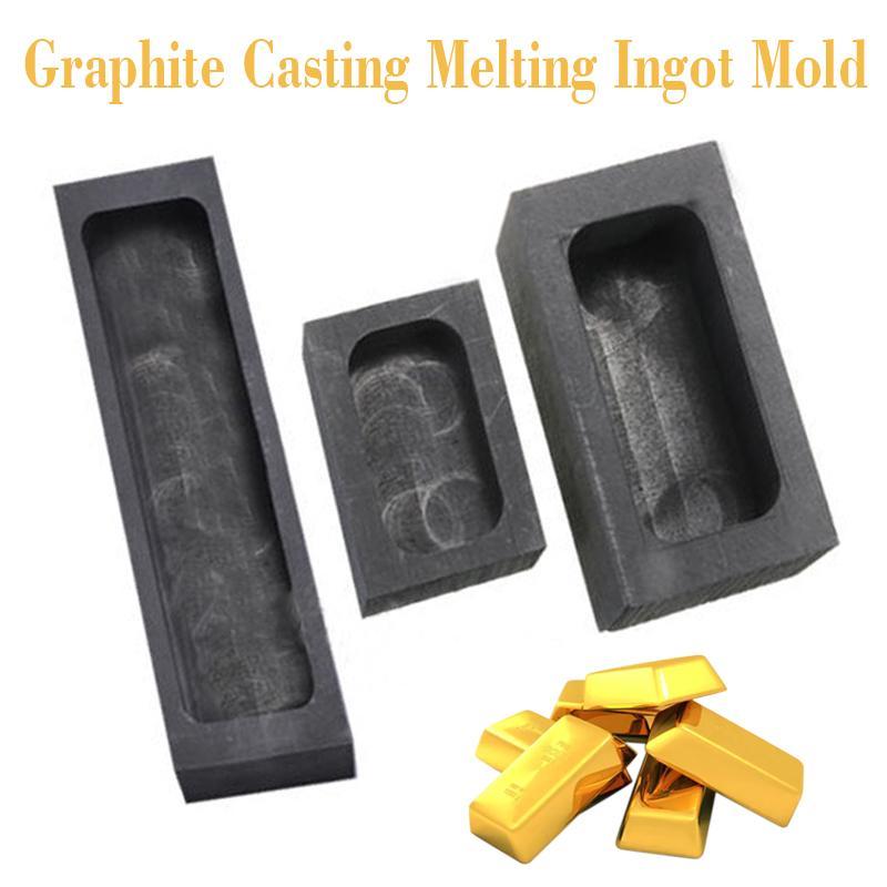 Refine Scrap For Copper Silver Gold 5 Hole Graphite Cast Metal Ingot Melt Mold