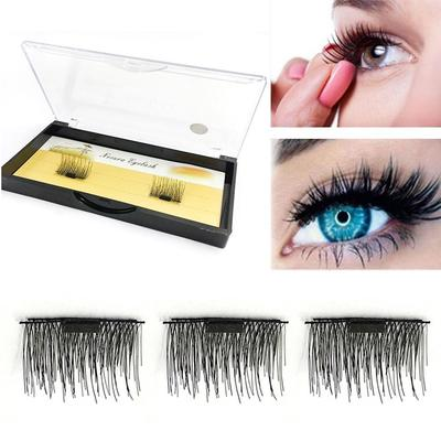 426a57d1684 4 Pcs/2 Pairs 3D Magnetic False Eyelashes Reusable Natural Eye Lashes  Extension Handmade 0.5