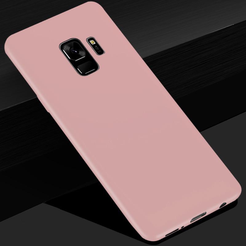 Матовый телефон случай крышку мягкой тонкой конфеты цвет матовый ТПУ для Samsung GalaxyS6 S7 края S8 S9Plus фото
