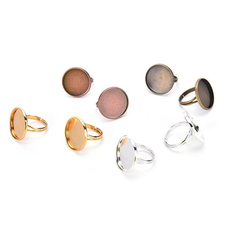 10  bronze 15mm crown ring bezel cup Finger Rings base settings pendant tray Jewelry findings