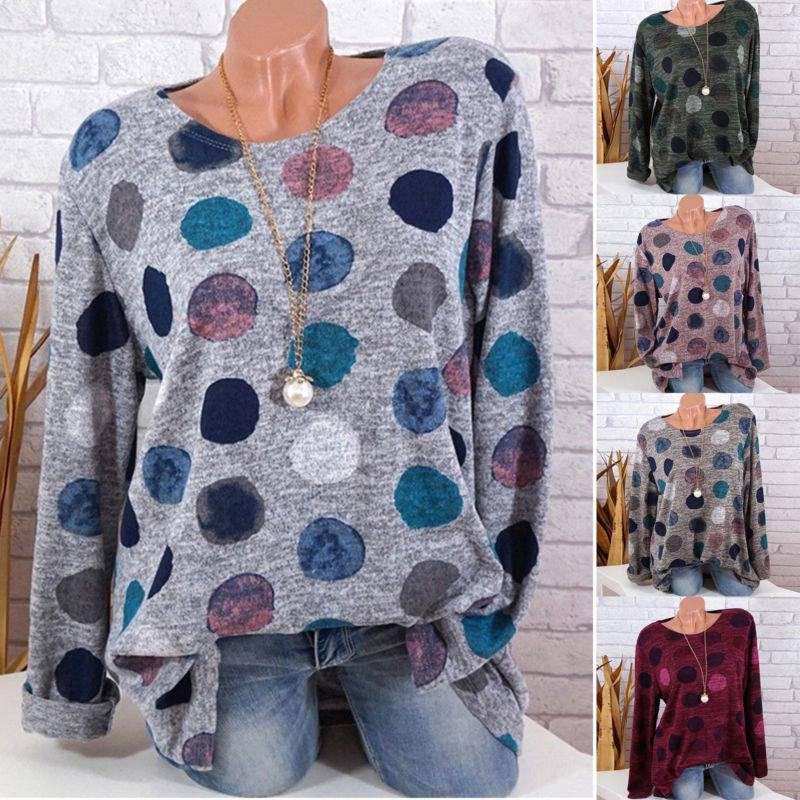Womens Shirts Dandelion Floral Printed Sweatshirt Long Sleeve Round Neck T-Shirt Pullover Blouse Tops S-5XL