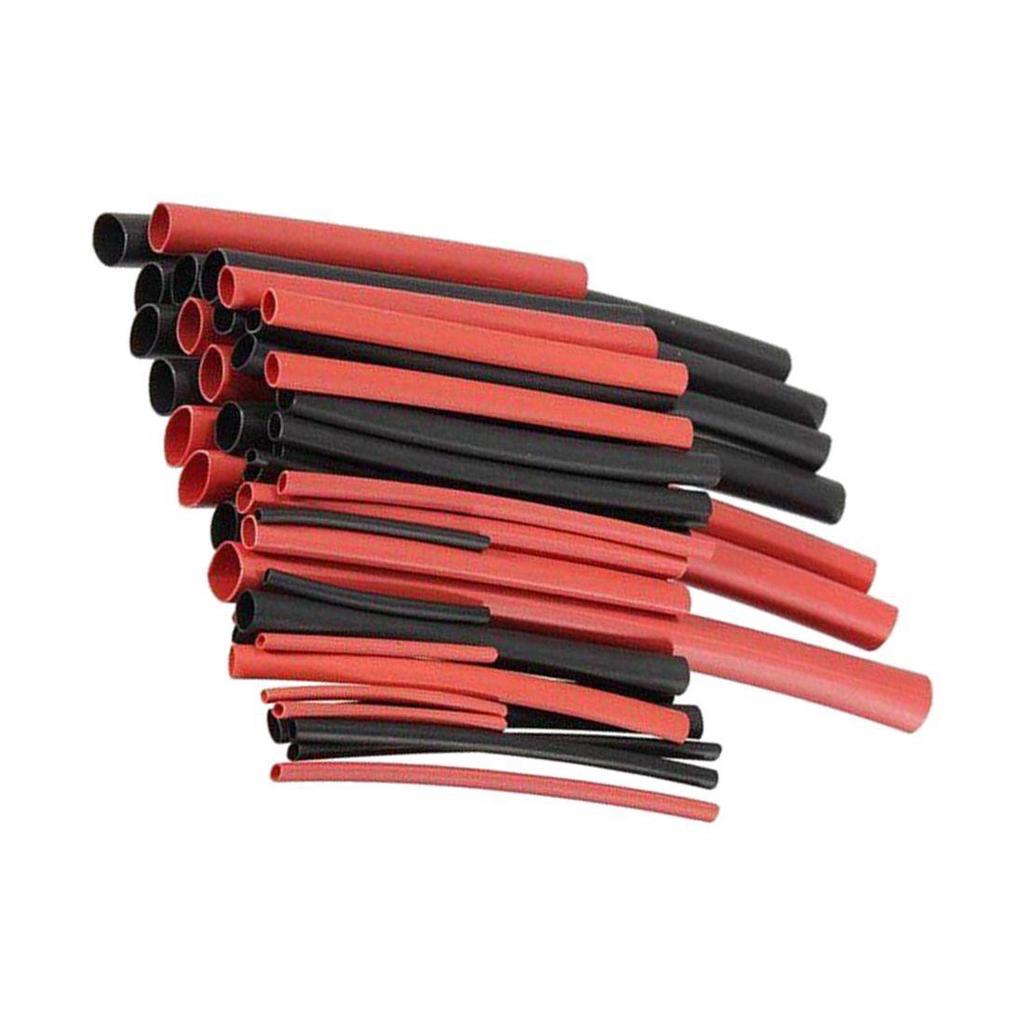 7 X 200mm longitudes negro tubo termorretráctil heatshrink Tubo Sleeving Pack Kit