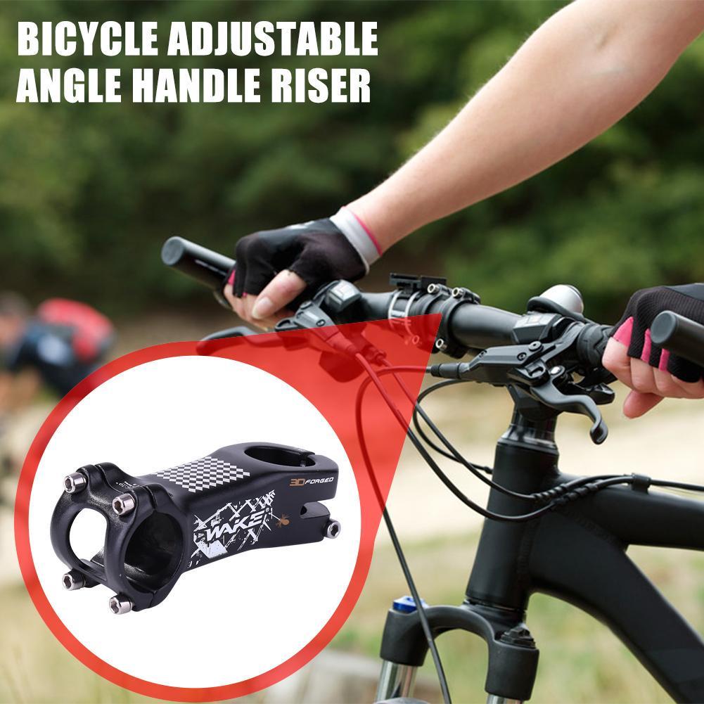 WAKE Bicycle Stem Aluminum MTB Road Bike Handlebar Stem 31.8x28.6x80mm Black