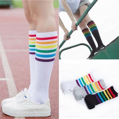 Cotton Thigh High Compression Socks American Flag Lineman Soccer Tube Sock