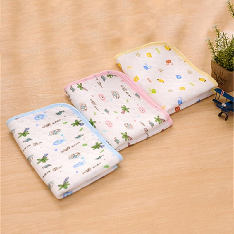 More Breathable and Environmentally Baby Supplies Newborn Washable Nappies Reusable Baby Nappies Washable Three Layers Ecological Cotton Diapers Neonatal Diaper Cloth