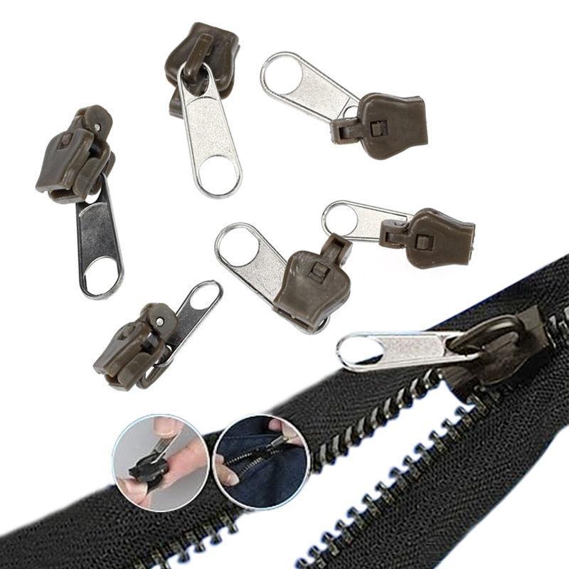 20pcs Metal Alloy Non-slip Zipper Sliders Suitable For Clothes Pants Bags Replacement Repair Part Black