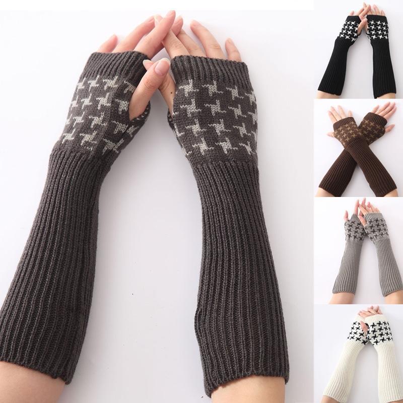 Mujer invierno surtidos Color brazo cálido tramo tejer guantes ...