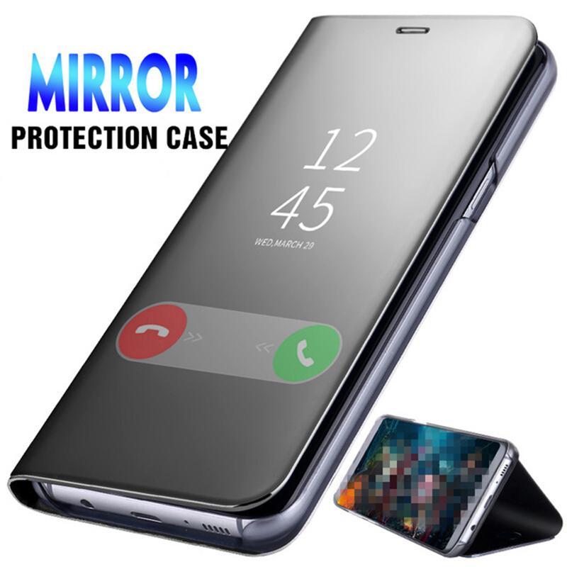 Смарт Зеркало Flip Дело для Samsung S10 S10 Плюс Стенд кронштейн телефон случае для Huawei Xiaomi Redmi