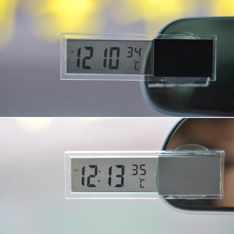 24932f77dd19 Reloj Relojes casa coche automóvil Digital pantalla transparente ...